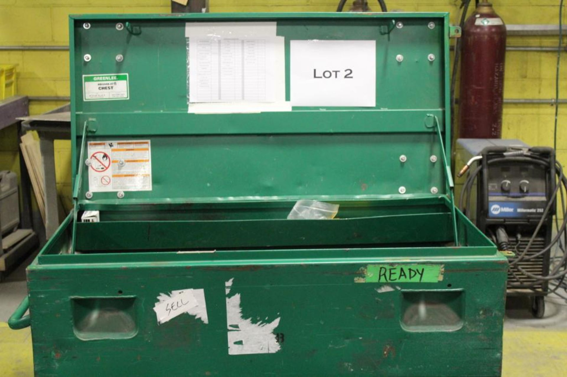 Greenlee tool box w/contents - Image 2 of 7