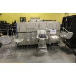 13 Chrome wire stools