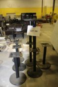 8 Black metal pedestal table bases