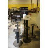 8 Black metal pedestal table bases