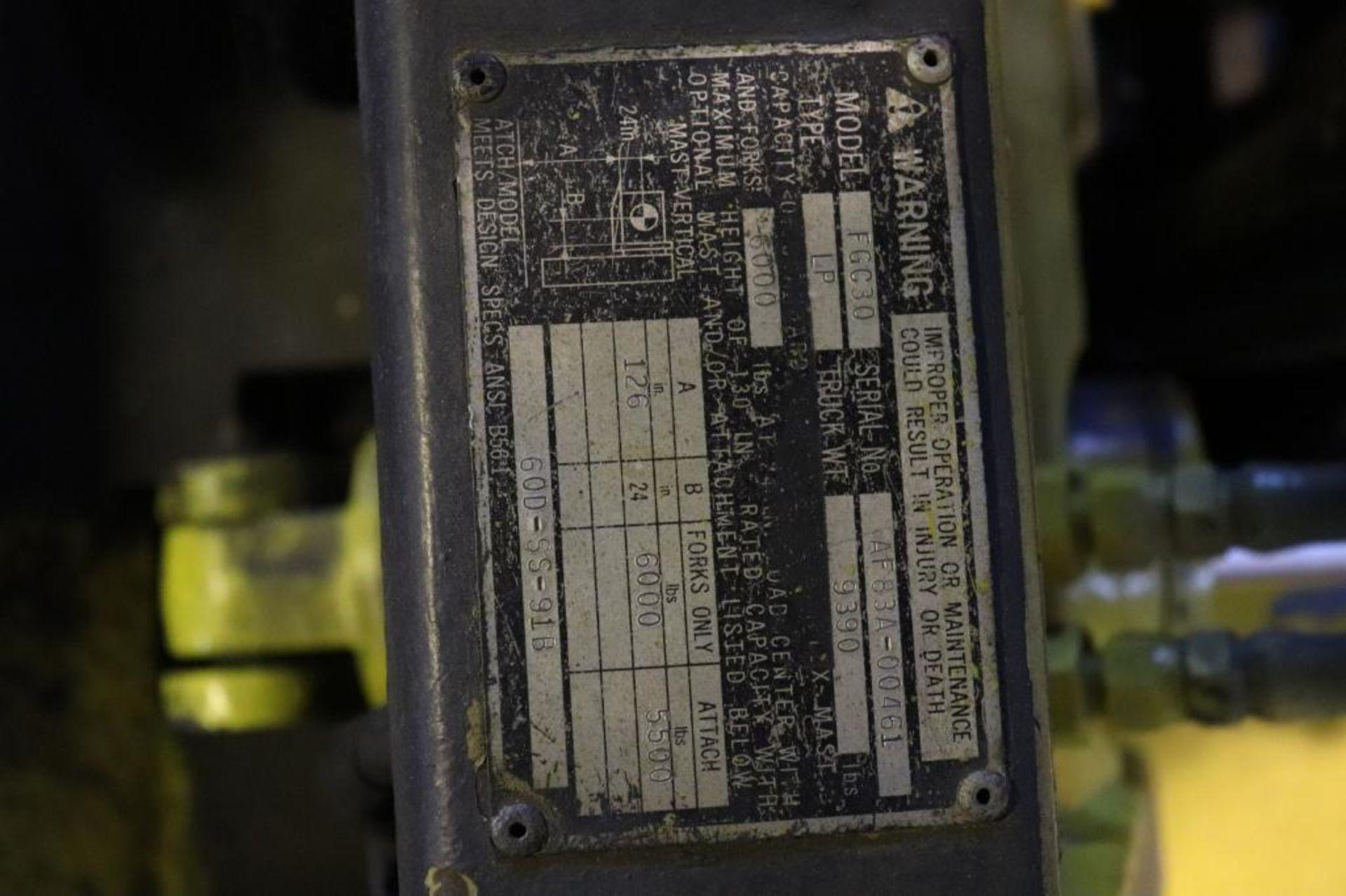Mitsubishi FCG30 6k LP forklift - Image 9 of 10
