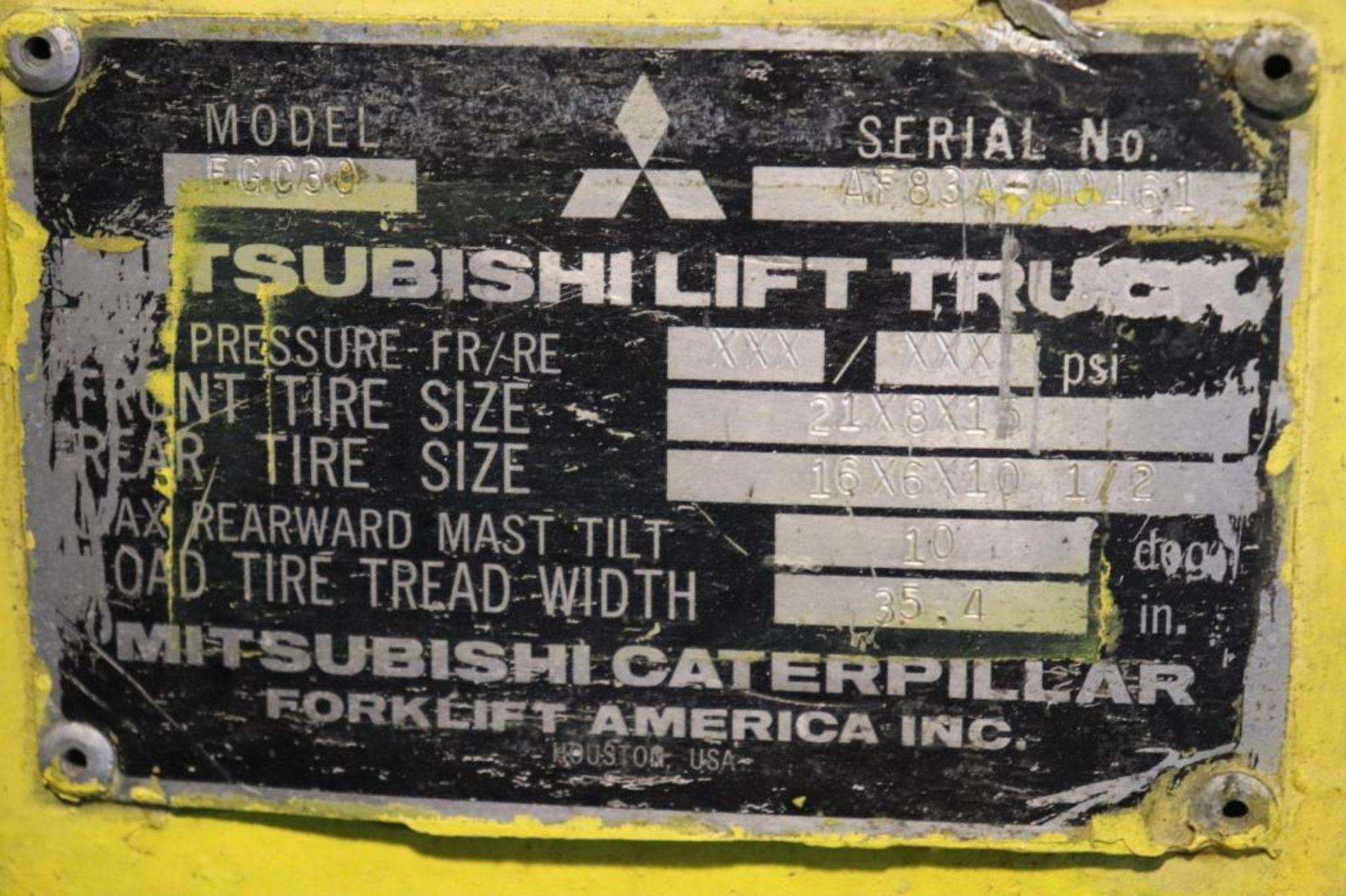 Mitsubishi FCG30 6k LP forklift - Image 5 of 10
