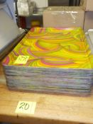 "BAKERY DISPLAY TRAYS, 17 ¾ "" X 25 ½"", MULTI COLOR. (17), SOLD BY THE PIECE. BUY IN QUANTITIES 5,"