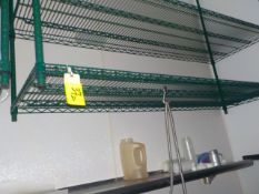 Shelving, Coated 6' X 2' 2 Tier, Ceiling Mount