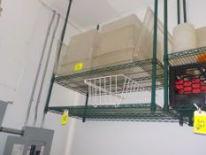 Shelving, Coated 4' X 2' 2 Tier, Ceiling Mount