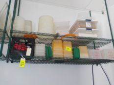 Asst. Plastic Containers on shelving