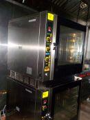 Convection Ovens, with Steam, EKA Model EKFA 664 UD, (E 664UD1021) 208/240V,  3 Ph.( Italy) (