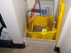 Mop Bucket & Wringer & Warning Sign