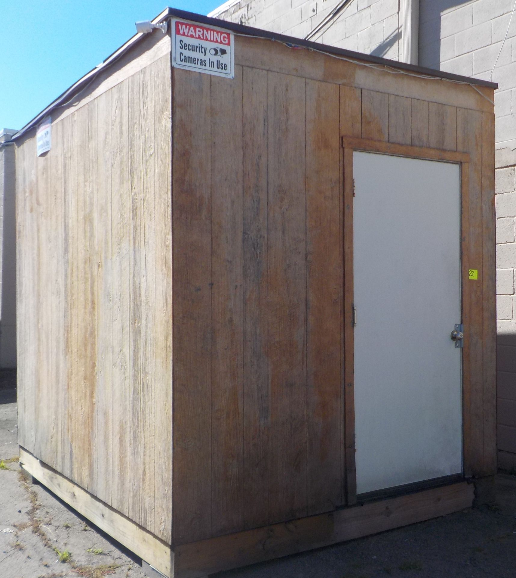 """Lot 22 - Shed, Movable, 10' x 7' 10"""" x 113""""High, One Door."""