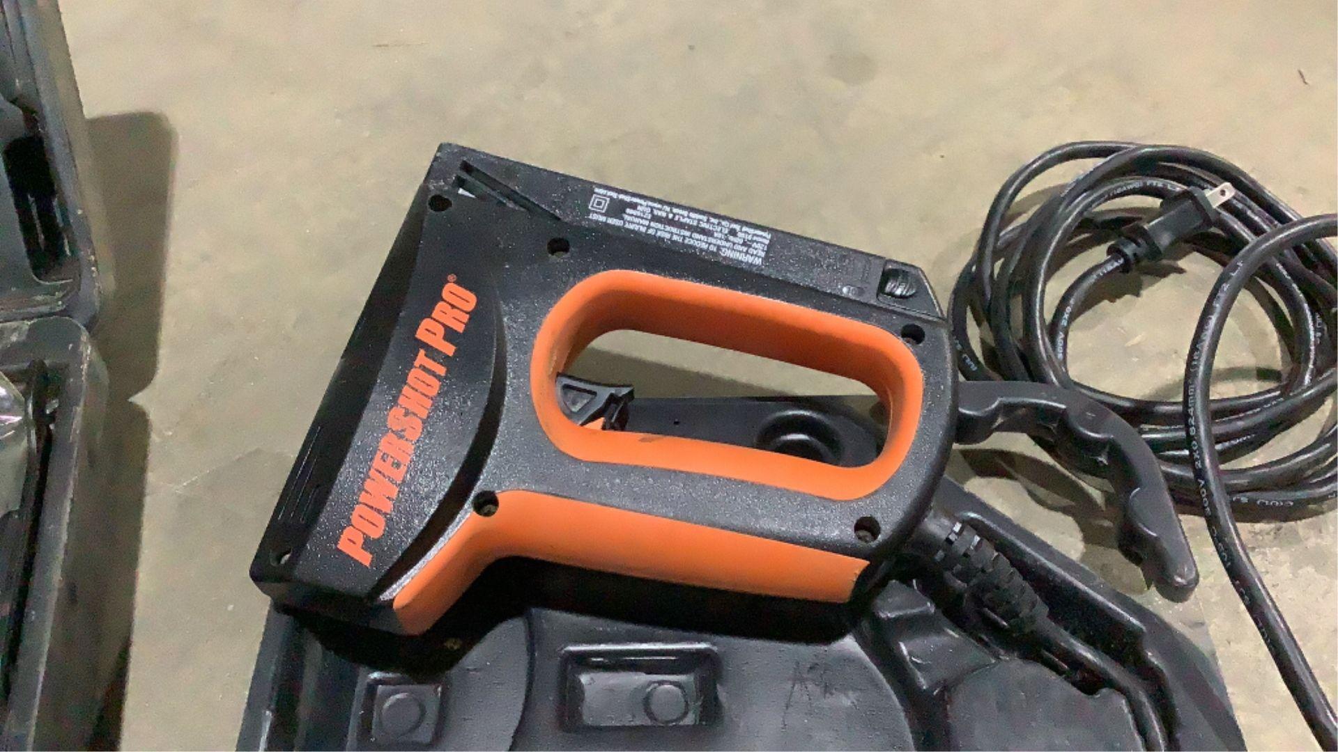 Lot 244 - Power Shot Tool Company Electric Nailer & Pneumati