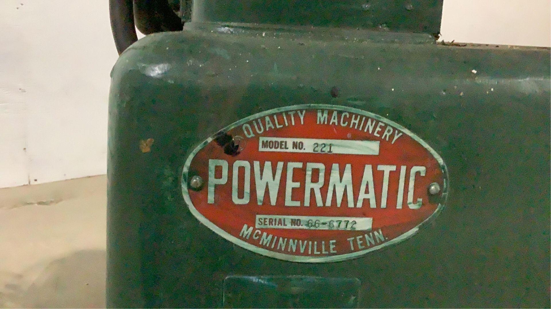 Lot 216 - Powermatic 221 Planer