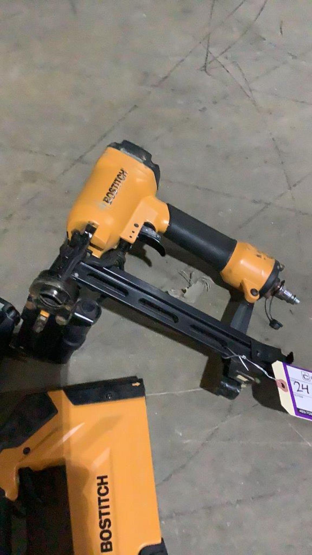Lot 241 - (3) Bostitch Pneumatic Strip Staplers & Strip Nail