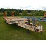 1986 Reid 10 Ton tag a long trailer 15' flat deck 4' dove dual tandem
