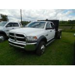2015 Dodge 5500 Super Duty Diesel 12' Steel dump body w' custom pipe rack and sides that remove4wd