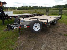 2010 PJ Trailer GVWR 9900, 16' deck 3' dove dual axle single wheelvin# 4P5L62021A1142660