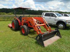 Kubota MX5100D HST tractor Hydrostat trans, 4wd, LA844 loader 4in 1 bucket 141 hrs