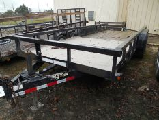 2014 BIG TEX 14PI-20 7-ton 20' trailer w'pull out ramps and sides VIN 16VPX2027E3050427