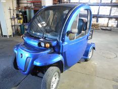GEM 72 volt electric car 2 door w/flat bed utility bed