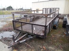 LEONARD 16' dual axle trailer with sides and drive on ramp
