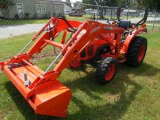 2018 Kubota L2501D Tractor ser# 74956 wLA525 loader, 4wd, 138 hours, electric over hydraulic switch
