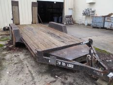 2004 McElrath dual axle trailer w/ramps vin# 1M9FE162841285879