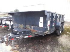 2014 BIG TEX 14LX 7-ton dump trailer vin# 16VX1424E5306311