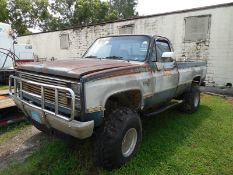 1984 Chev 1500 4wd, long bed pickup NOT RUNNING vin# 2GCEK14H1E1174659