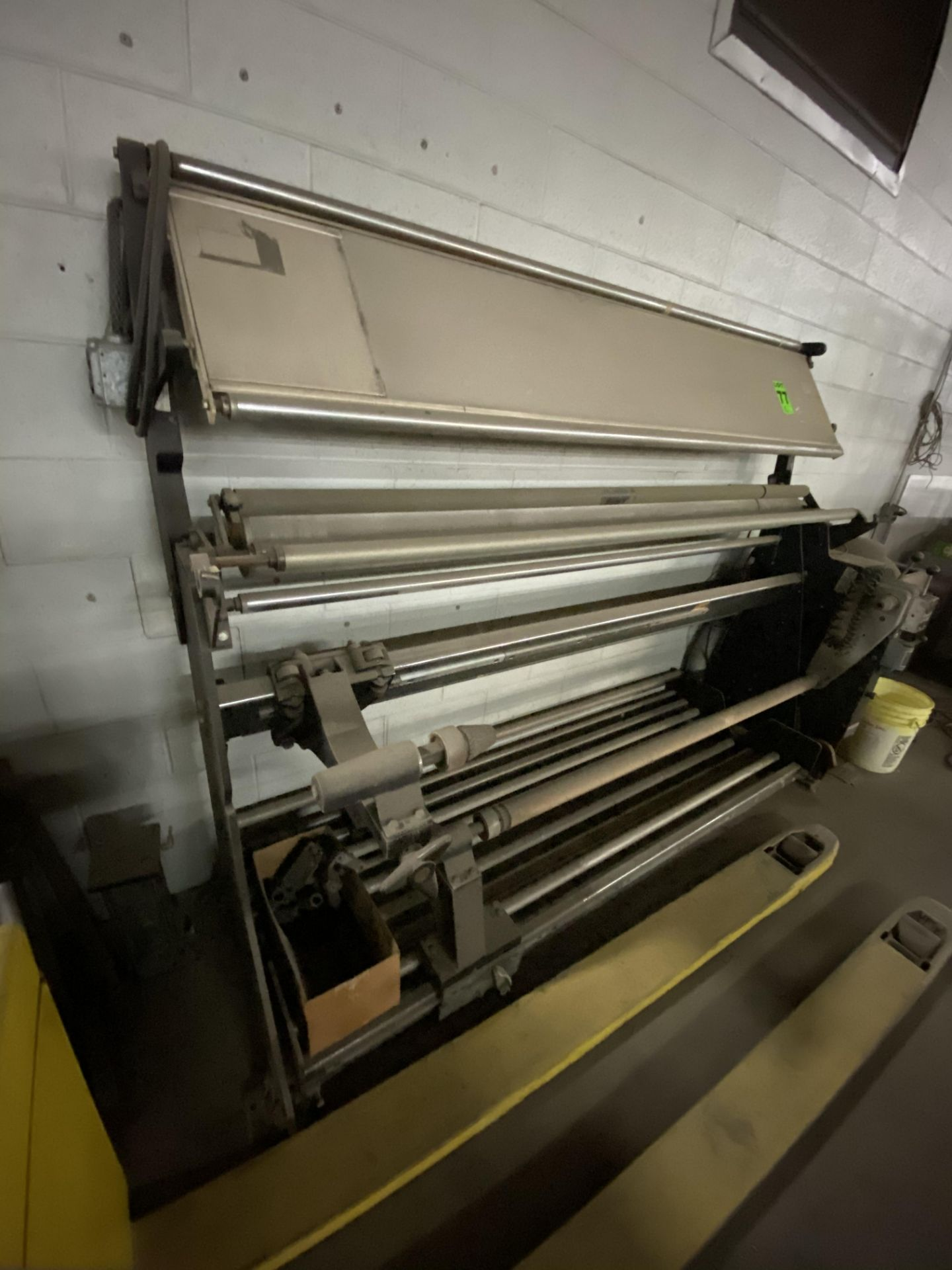 """Measuregraph 60"""" Roll fabric Inspection Station, s/n: 10277. ASSET LOCATED FOR PICKUP IN FALCONER, - Image 3 of 4"""