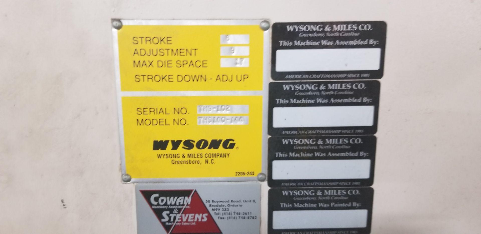 WYSONG 140-Ton x 12' Hydraulic Press Brake mod.THS140-144 s/n: .TH9-102 - Image 5 of 12
