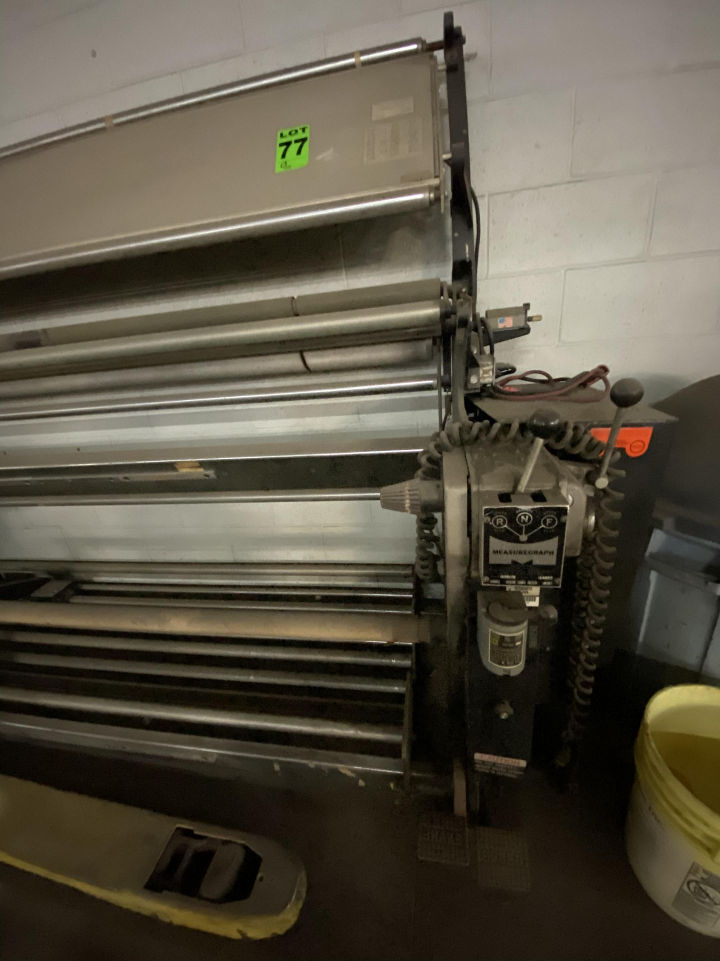 """Measuregraph 60"""" Roll fabric Inspection Station, s/n: 10277. ASSET LOCATED FOR PICKUP IN FALCONER, - Image 2 of 4"""