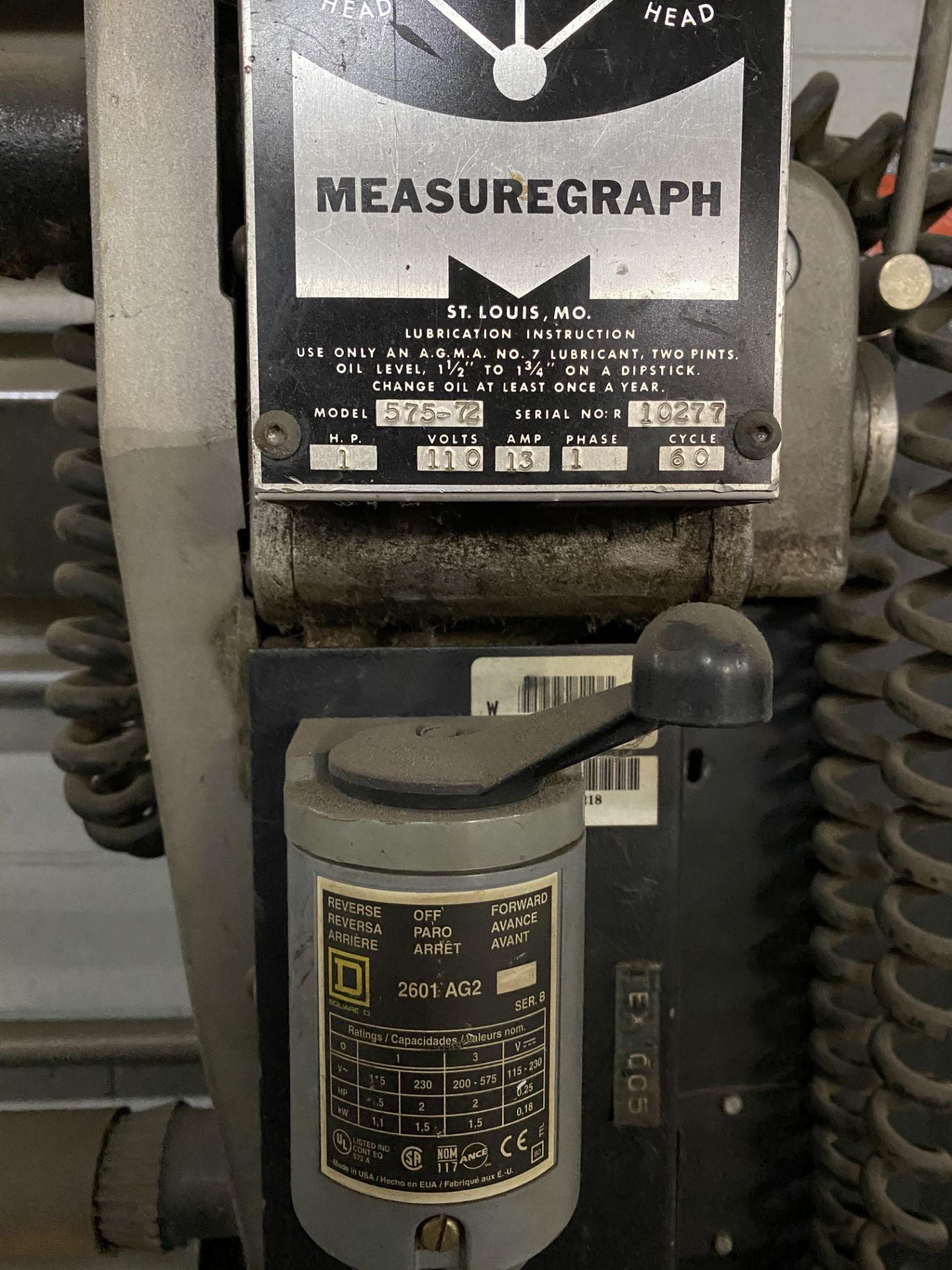 """Measuregraph 60"""" Roll fabric Inspection Station, s/n: 10277. ASSET LOCATED FOR PICKUP IN FALCONER, - Image 4 of 4"""