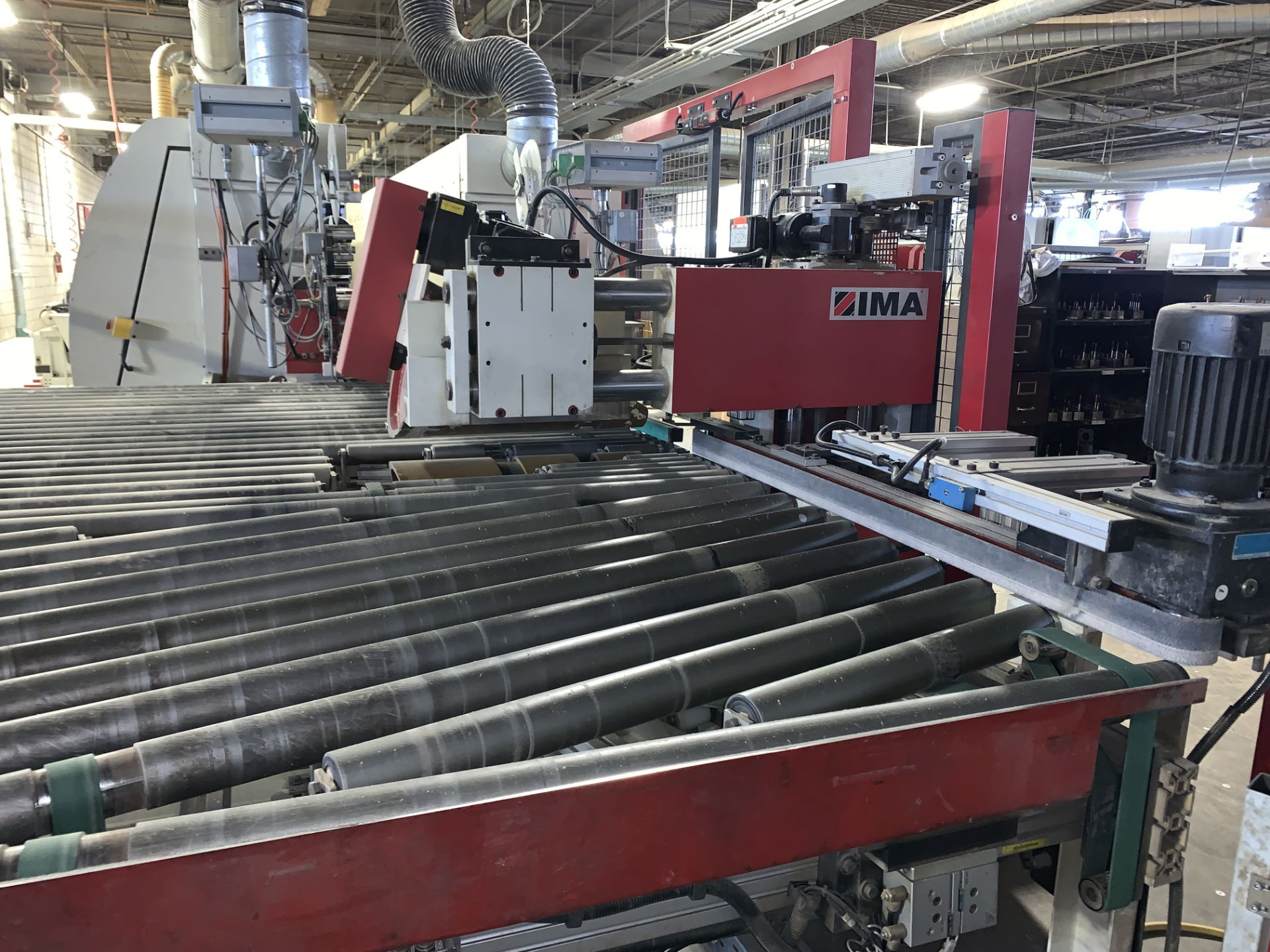 Lot 7b - IMA (COMBIMA/II/950 & 790) DOUBLE SIDED EDGE BANDER / SOFT FORMER WITH (2) PANEL TURNERS