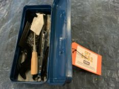 Blue Tool Box with Misc. Tools