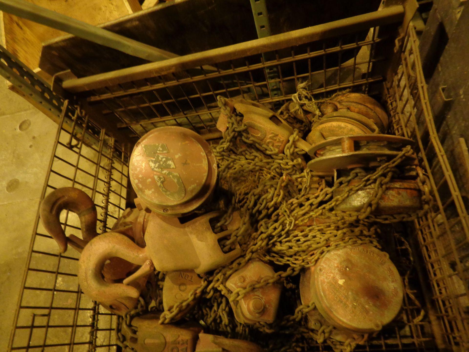 Lot 3A - Lot of 5 Chain Hoists