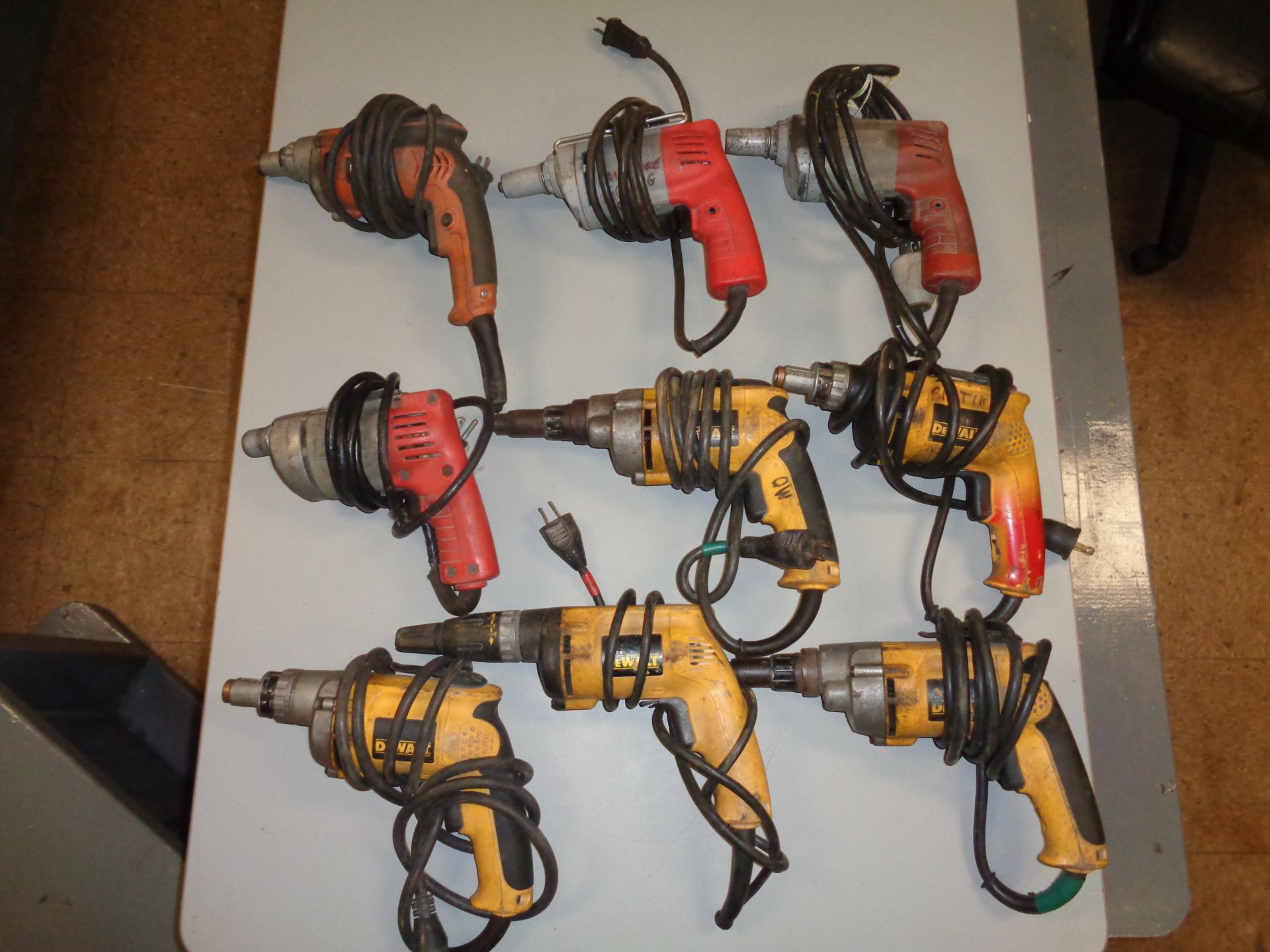 Lot 9B - Lot of 9 Drywall Screw Shooters