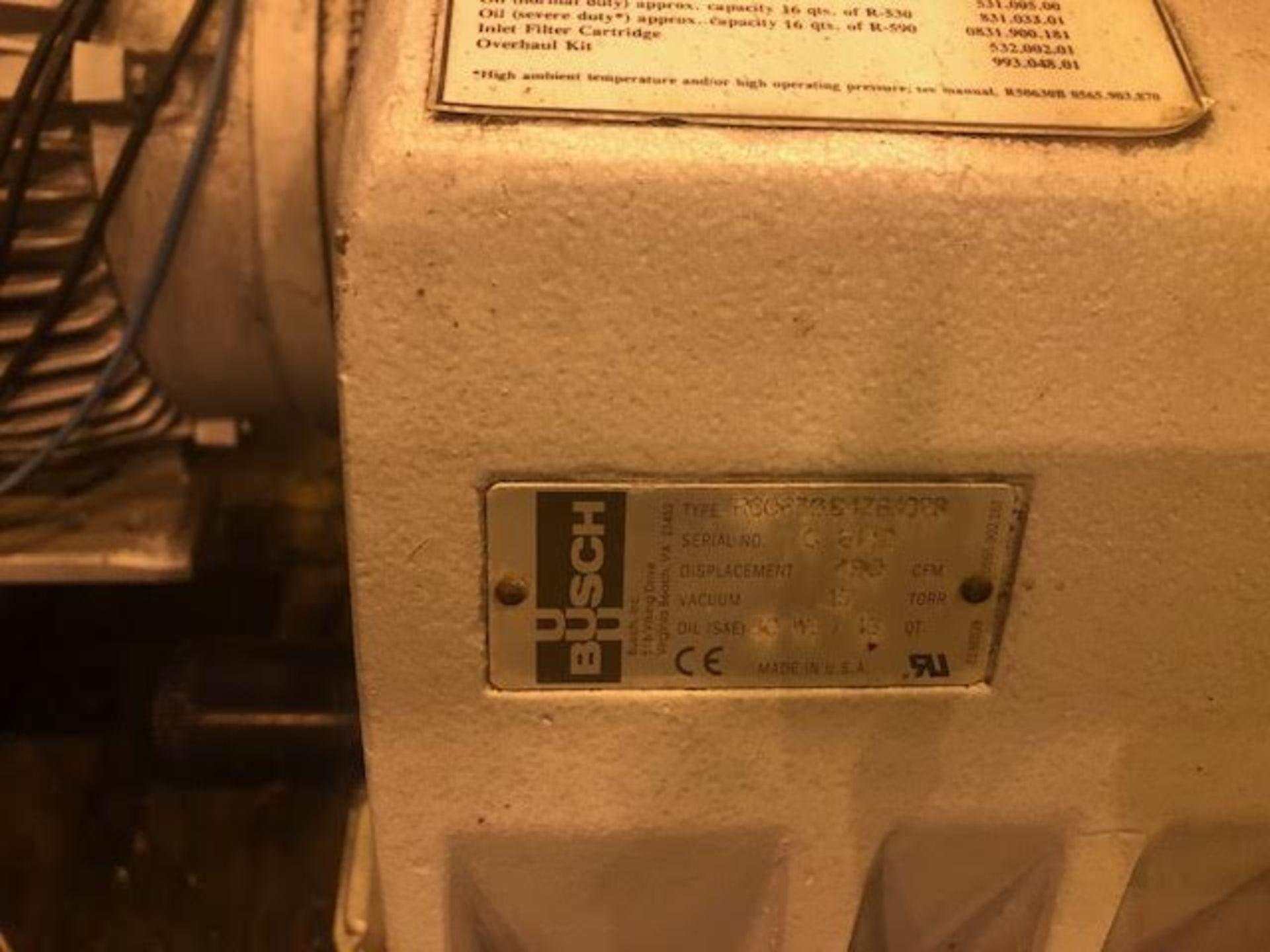 Lot 2 - Busch Vacuum Pump