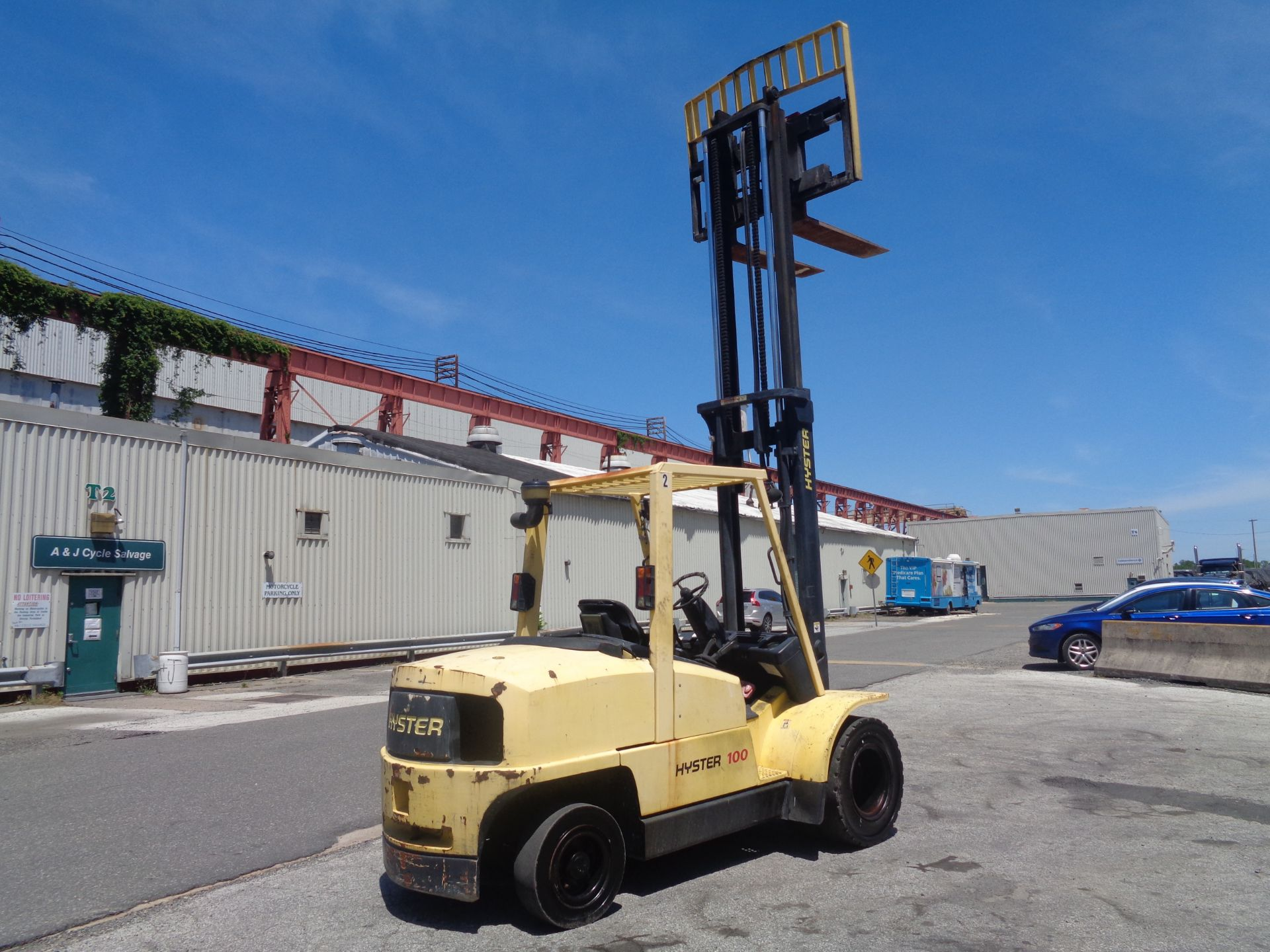 Hyster H100XM 10,000lb Forklift - Image 7 of 10