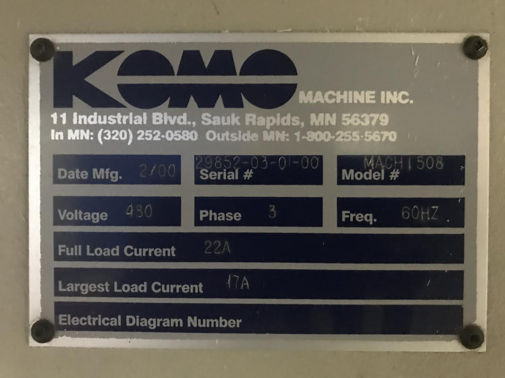 Lot 26 - Komo Mach 1508 CNC Router
