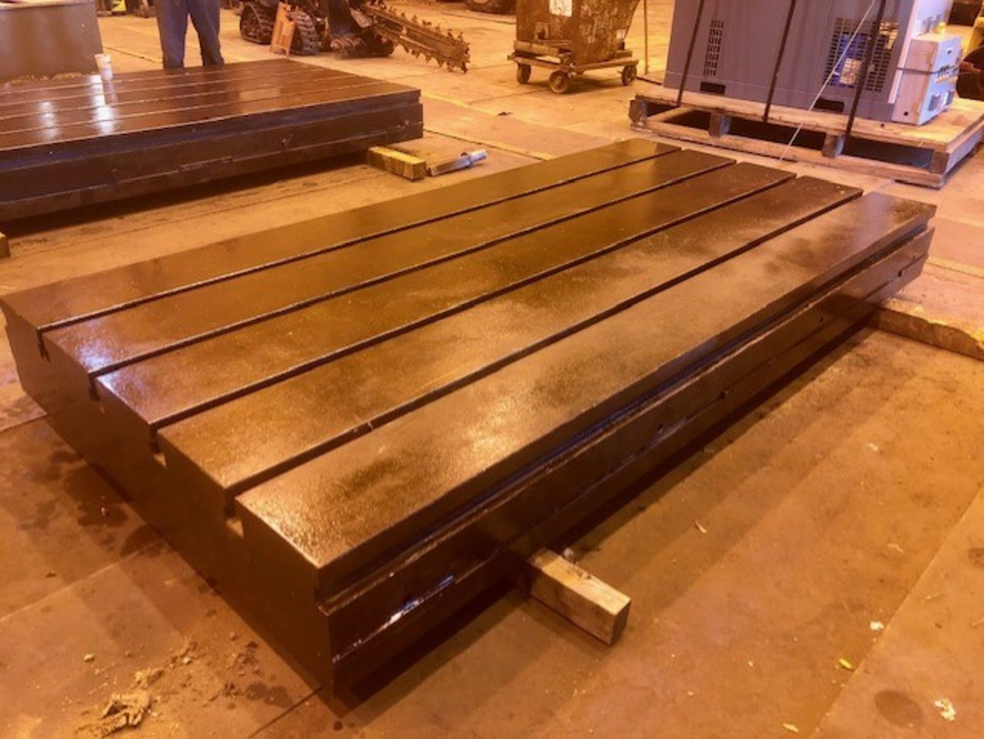Lot 11 - 120 in L x 60 in W x 12 in T-Slotted Floor Plate