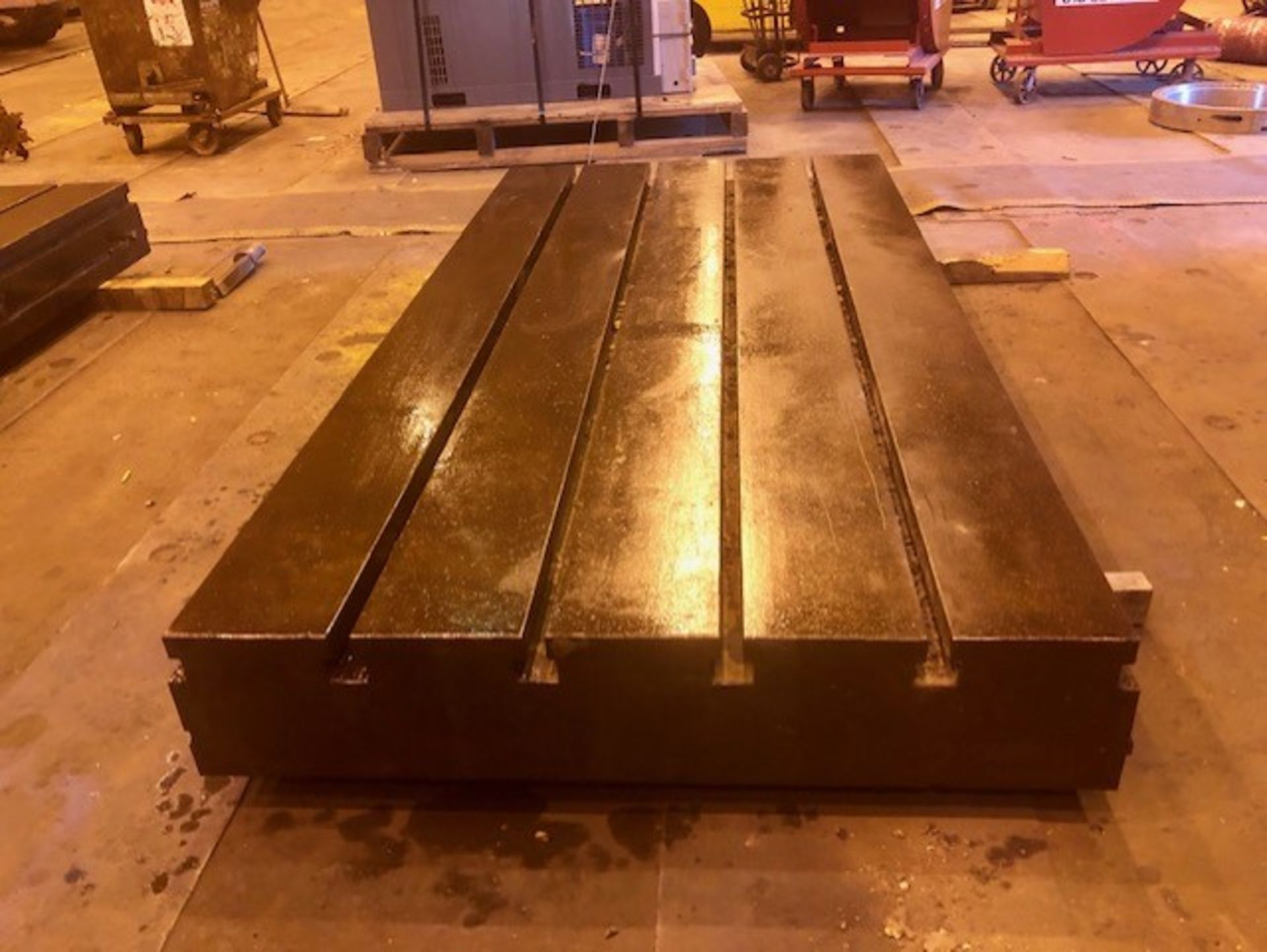 Lot 12 - 120 L in x 60 in W in x 12 in H T Slotted Floor Plate