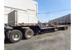 2008 Transcraft DS-800 FZ Step Deck Flat Bed Equipment Trailer