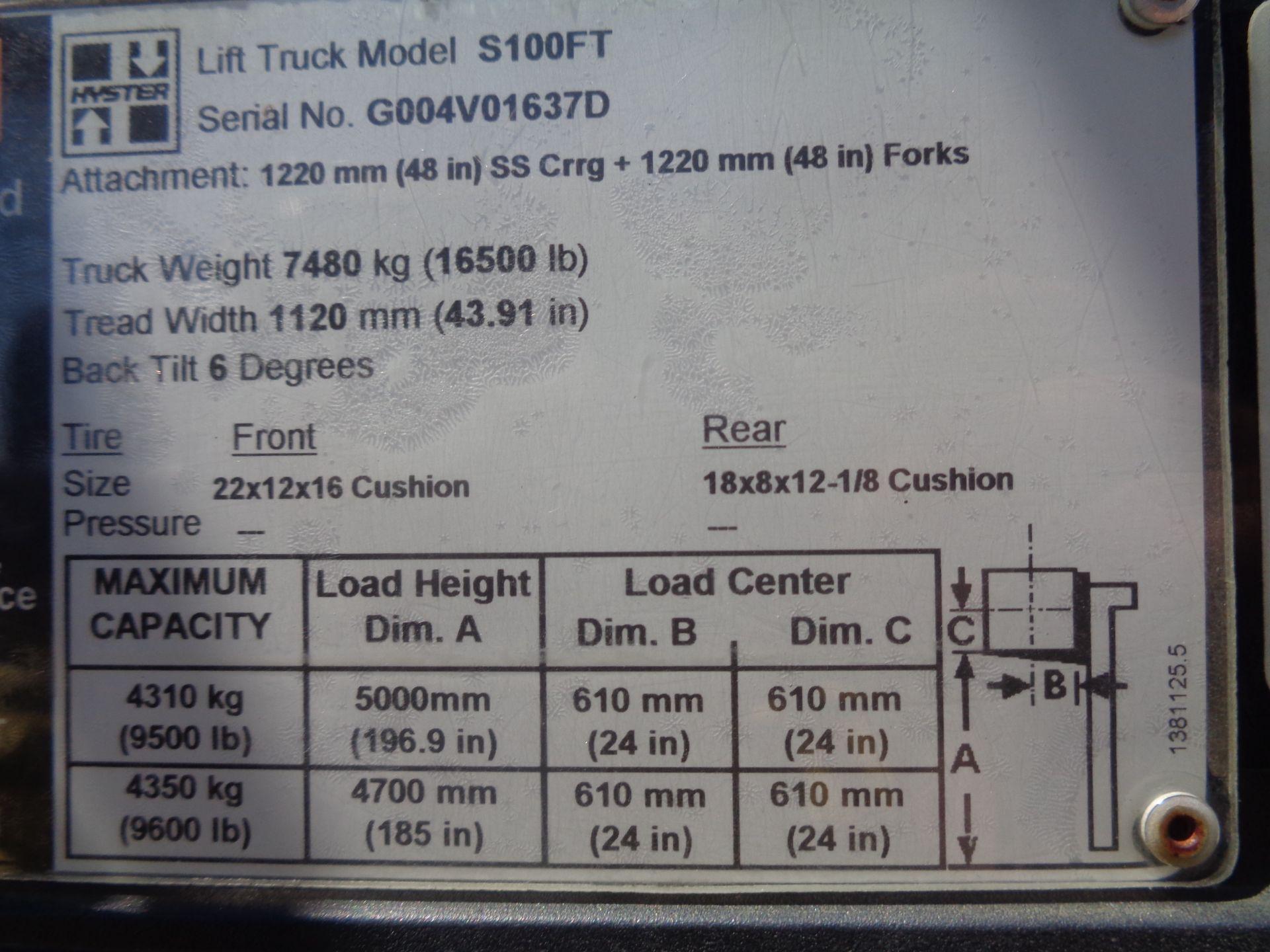Hyster S100FT 10,000lb Forklift - Image 17 of 17