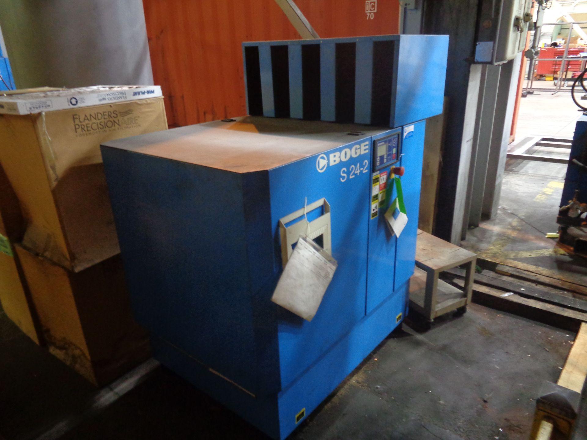 Boge Compressor and Tank - Image 3 of 5