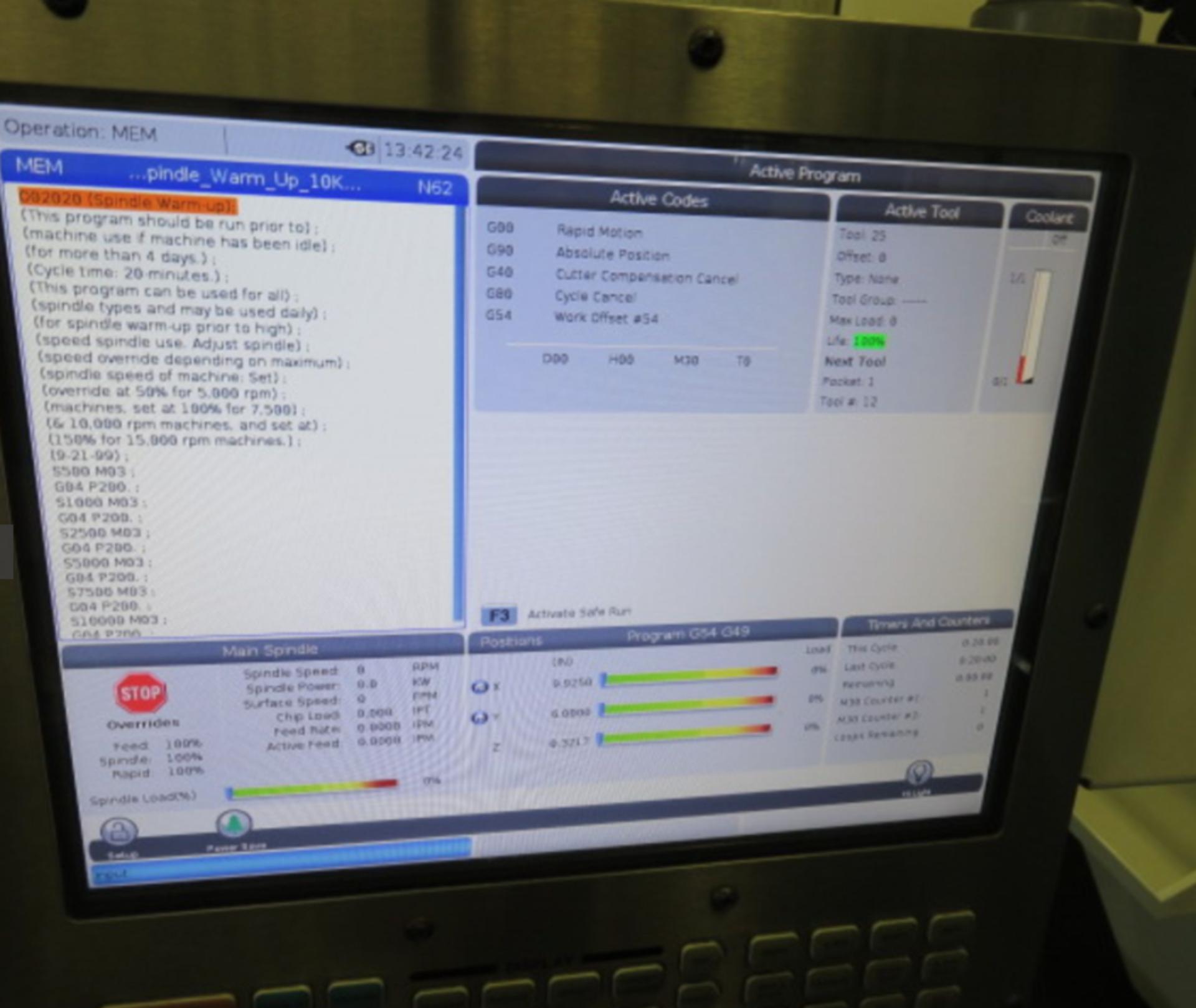 Lot 23 - 2017 HAAS VF-1 CNC VERTICAL MACHINING CENTER