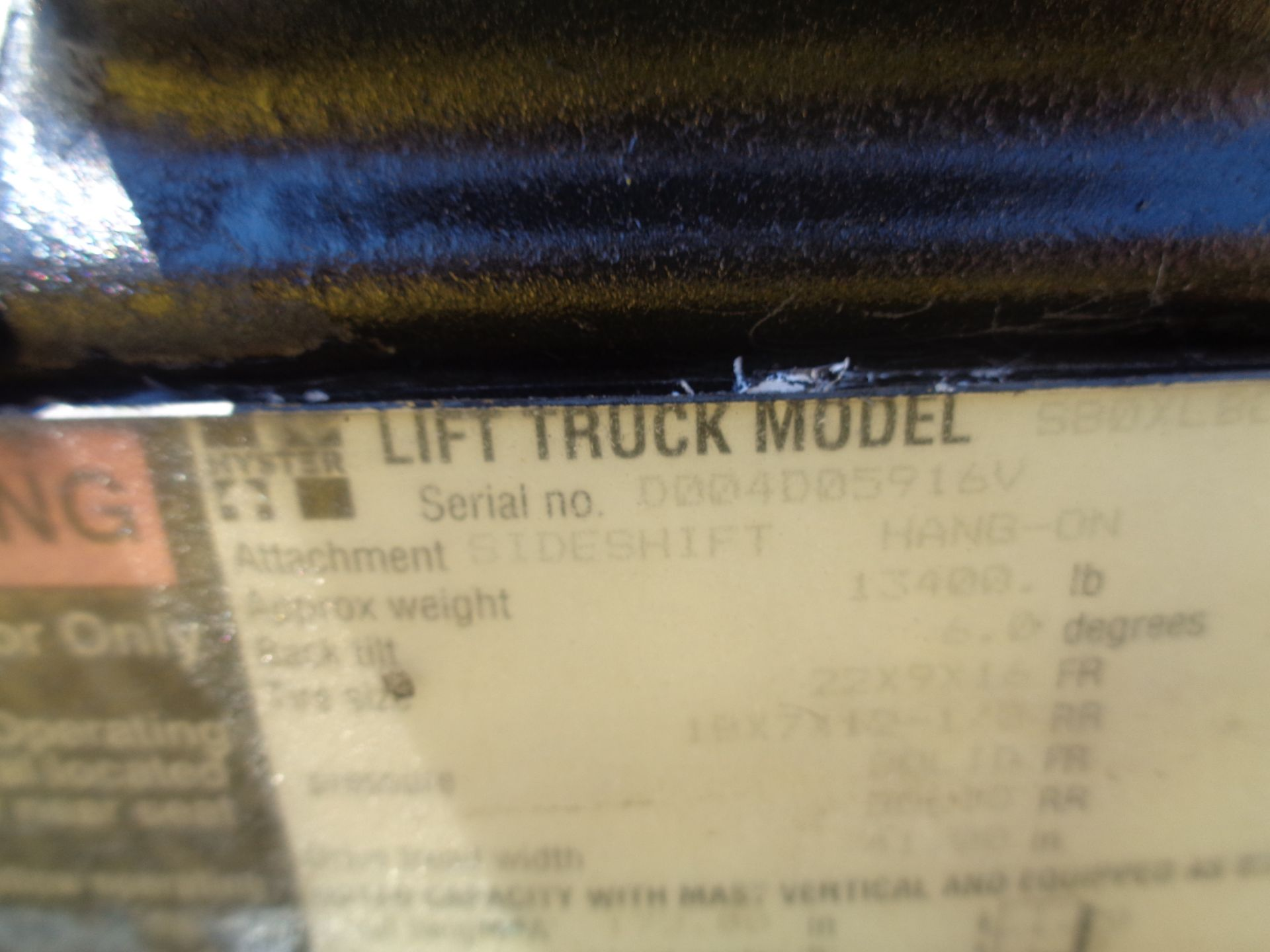 Hyster S80XL 8,000 lbs Forklift - Image 10 of 13