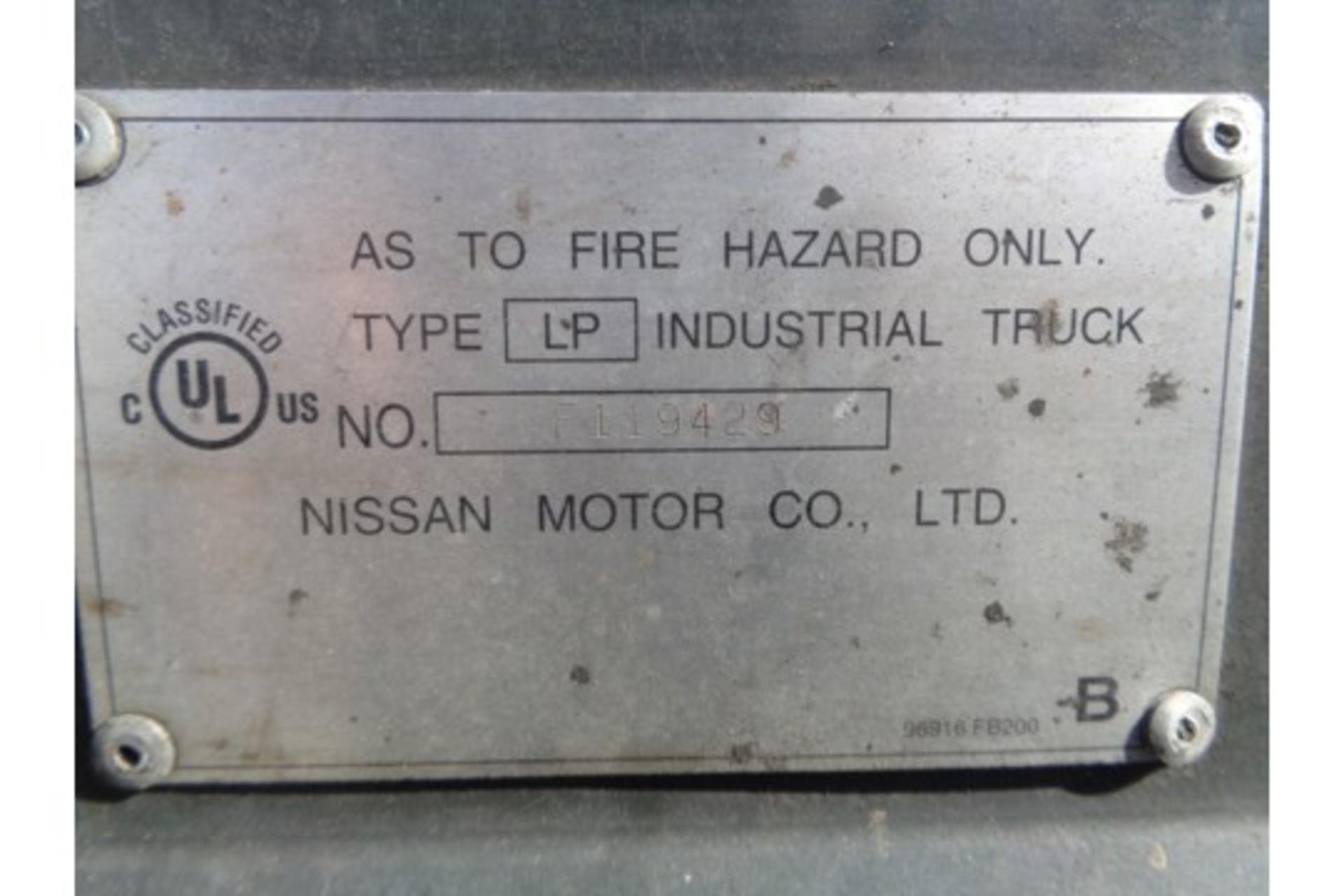 Nissan MCPL01A18LV 3500lb Forklift - Image 15 of 16