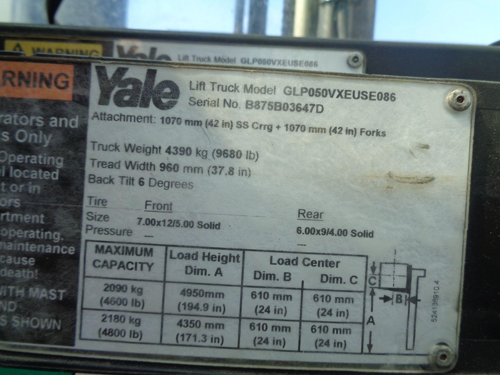 Yale GLP05VXEUSE086 5000 lb Forklift - Image 14 of 14