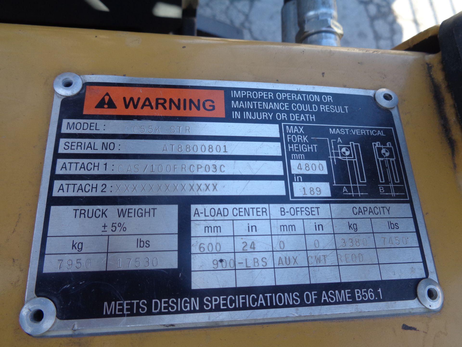 Caterpillar GC55KSTR 11,000lb Forklift - Image 5 of 14
