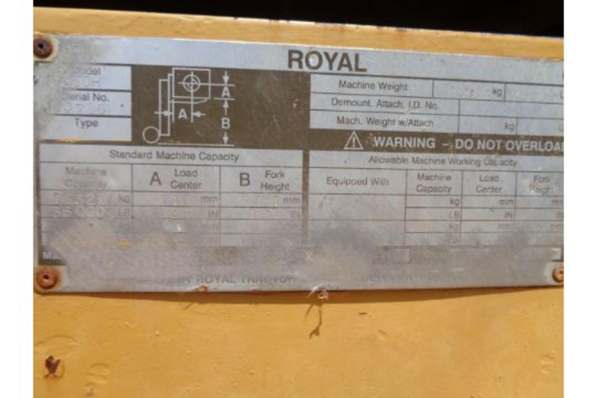 1998 Royal P330H 36,000lb Forklift - Image 19 of 19