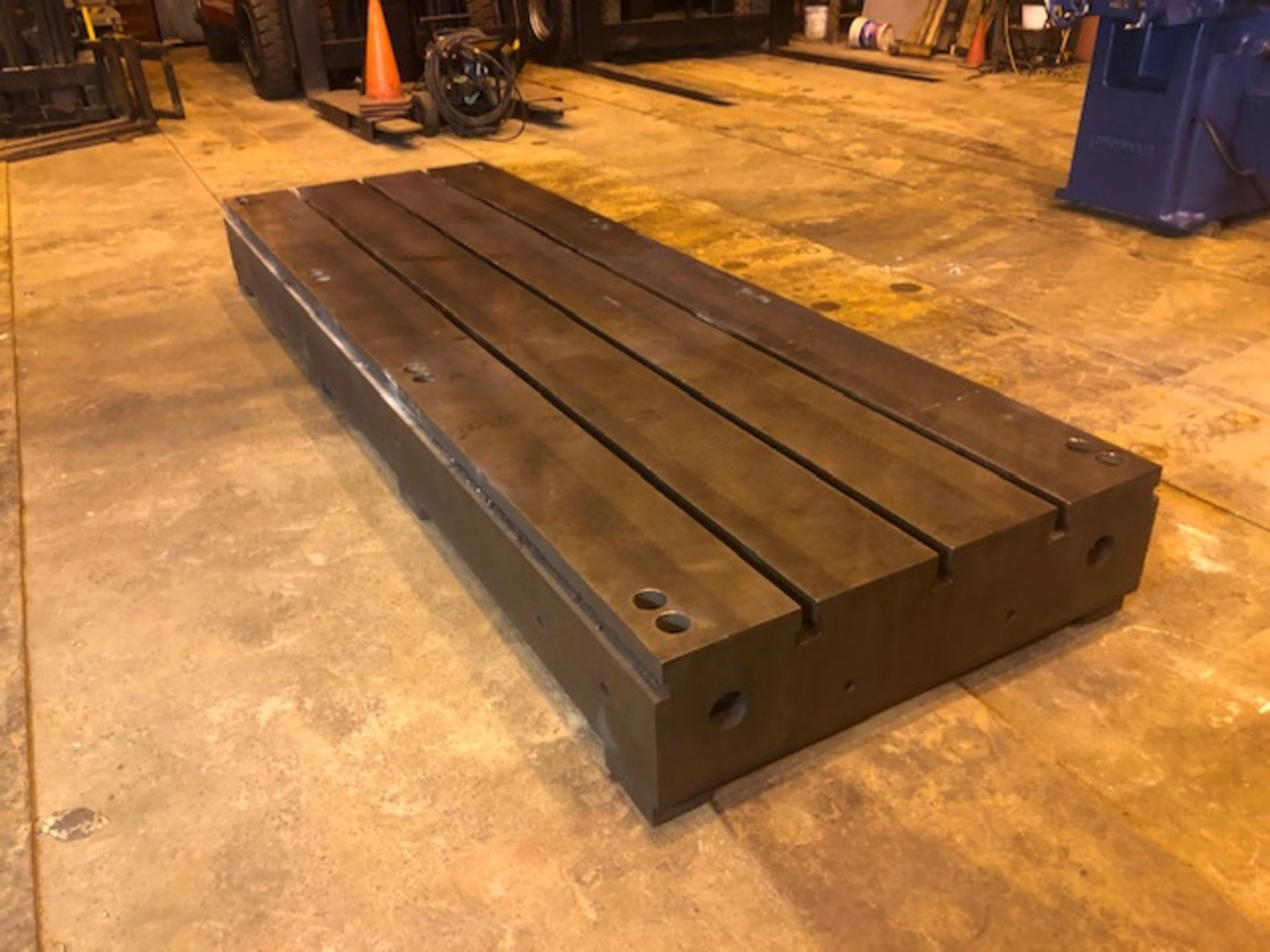 Lot 14 - T Slotted Floor Plate144in L x 48in W x 12.5in H Boring Mill Machine Table